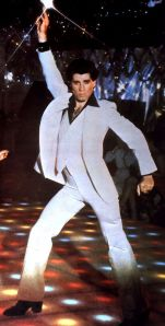 photo John Travolta in white suit crazygoodparent