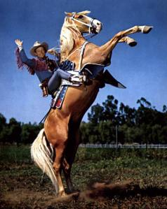 Roy Rogers and Trigger on crazy good parent